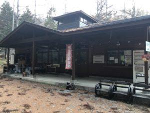 林間キャンプ場の受付