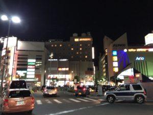 八王子に似た雰囲気のある松本駅前