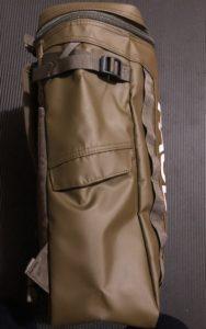 サイドポケットにはマチが設けられている