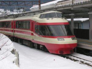 冬の長野電鉄