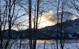 冬の青木湖
