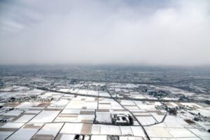 松本市の上空(冬)