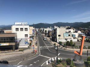 篠ノ井駅から見た駅前交差点