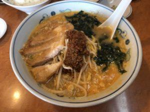 テンホウの肉揚げタンタンメン(750円)