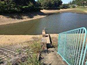 堤防エリアから見た小坂田池