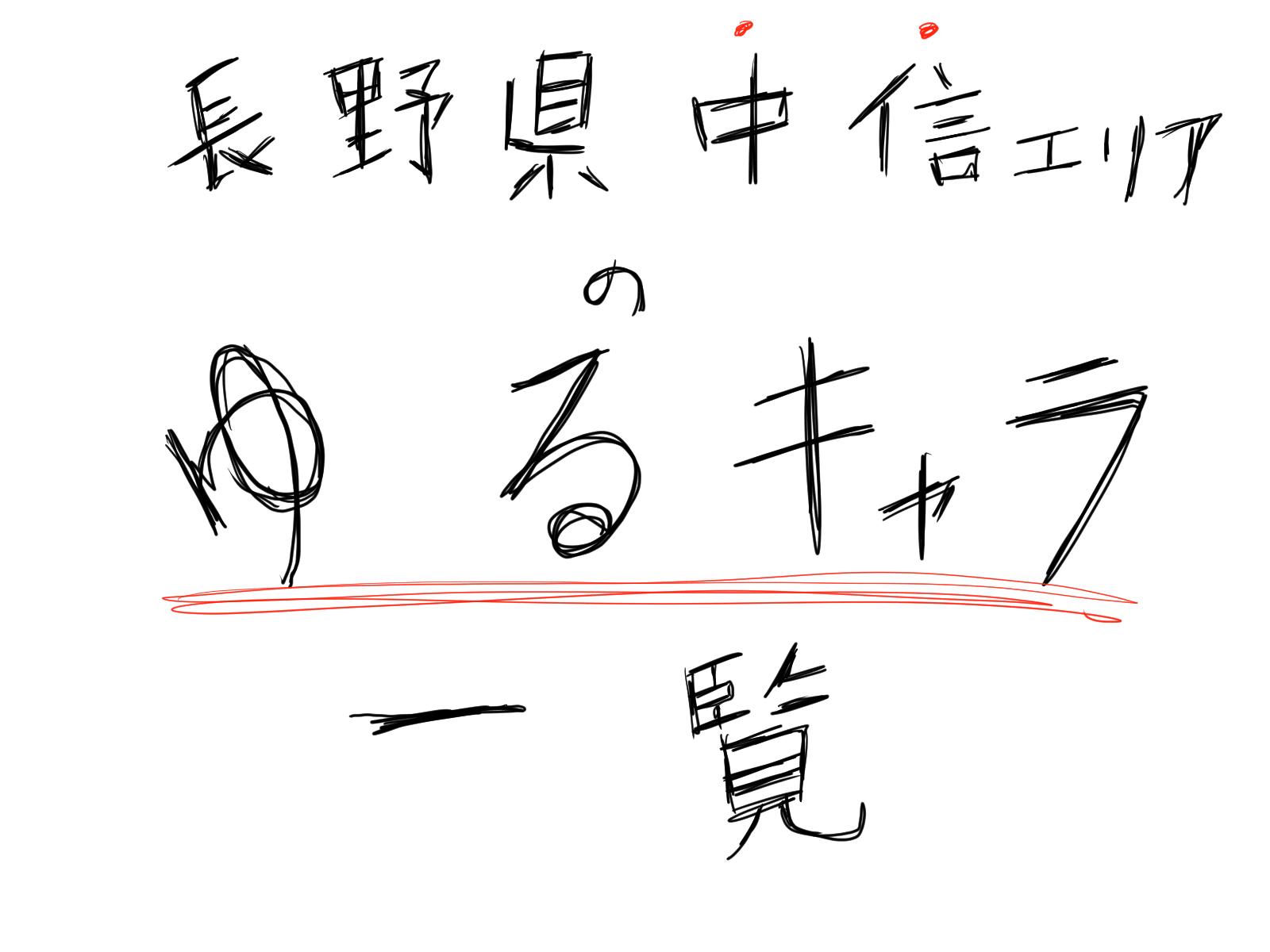 長野県中信エリアのゆるキャラ一覧