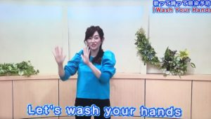 「Wash Your Hands」を踊る平沢アナ