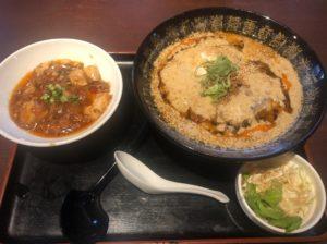 坦々麺+ミニ麻婆丼セット
