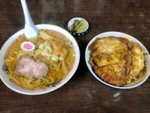 ラーメン+カツ丼