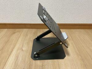 工匠藤井のノートパソコンスタンド(サイド)